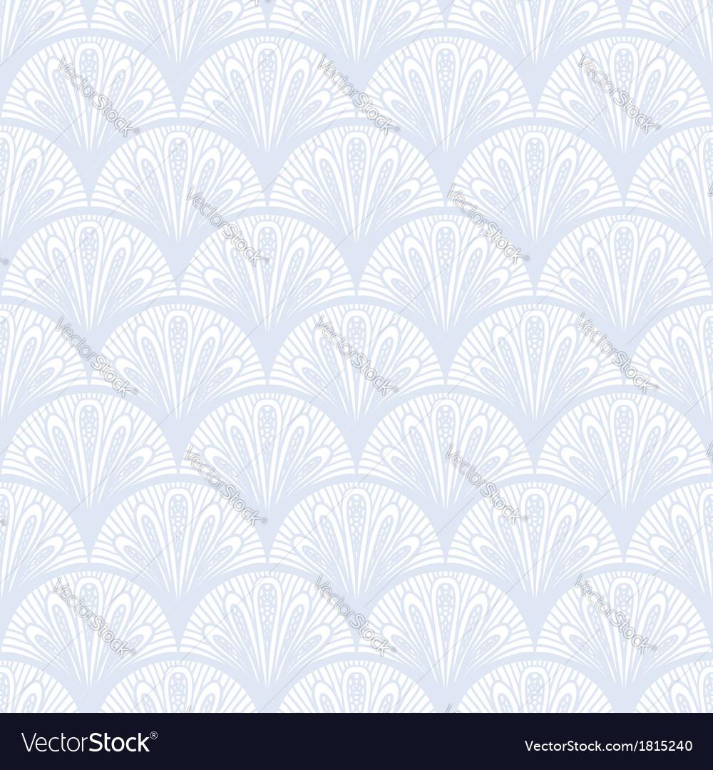 Art deco geometric pattern in silver white vector | Price: 1 Credit (USD $1)