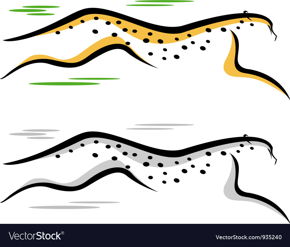 Cheetah jumping vector | Price: 1 Credit (USD $1)