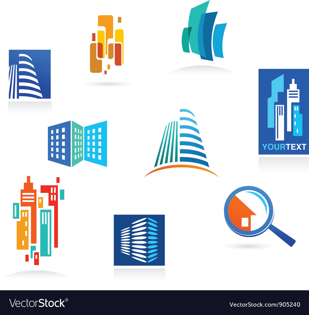 Collection of real estate icons and elements vector | Price: 1 Credit (USD $1)