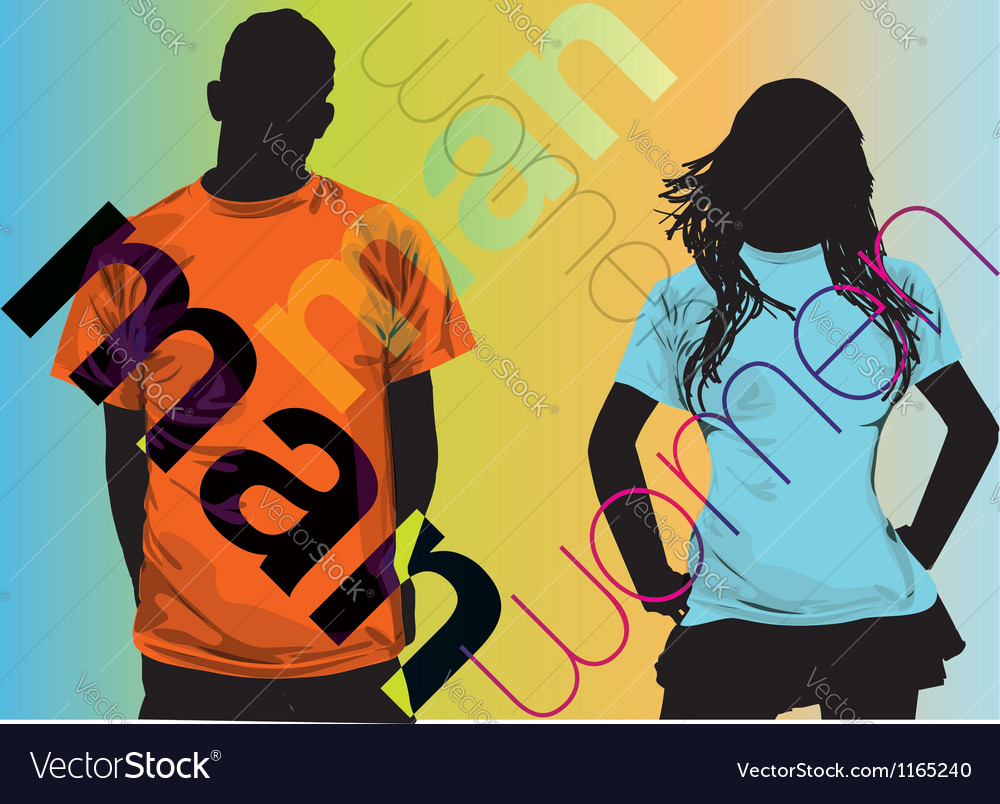 Fashion couple vector | Price: 1 Credit (USD $1)