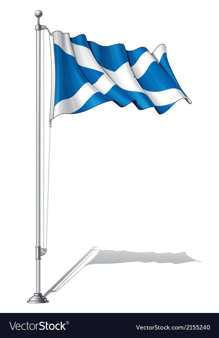 Flag pole scotland vector | Price: 1 Credit (USD $1)