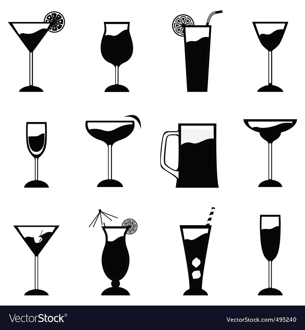 Glass set vector | Price: 1 Credit (USD $1)
