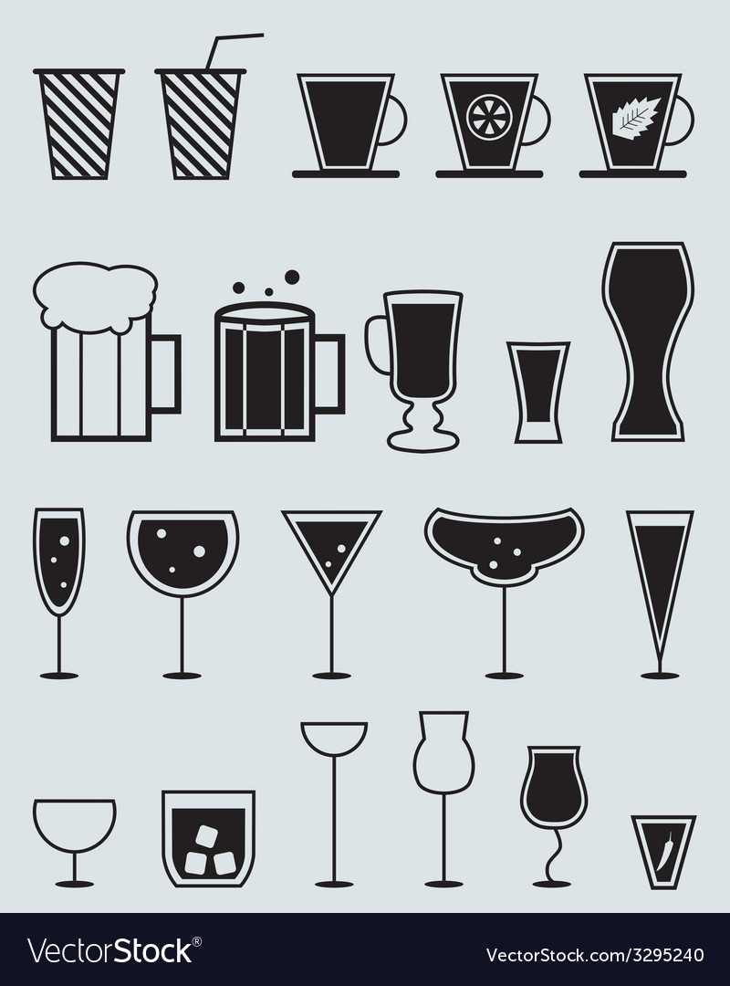 Glasses for drinks vector | Price: 1 Credit (USD $1)