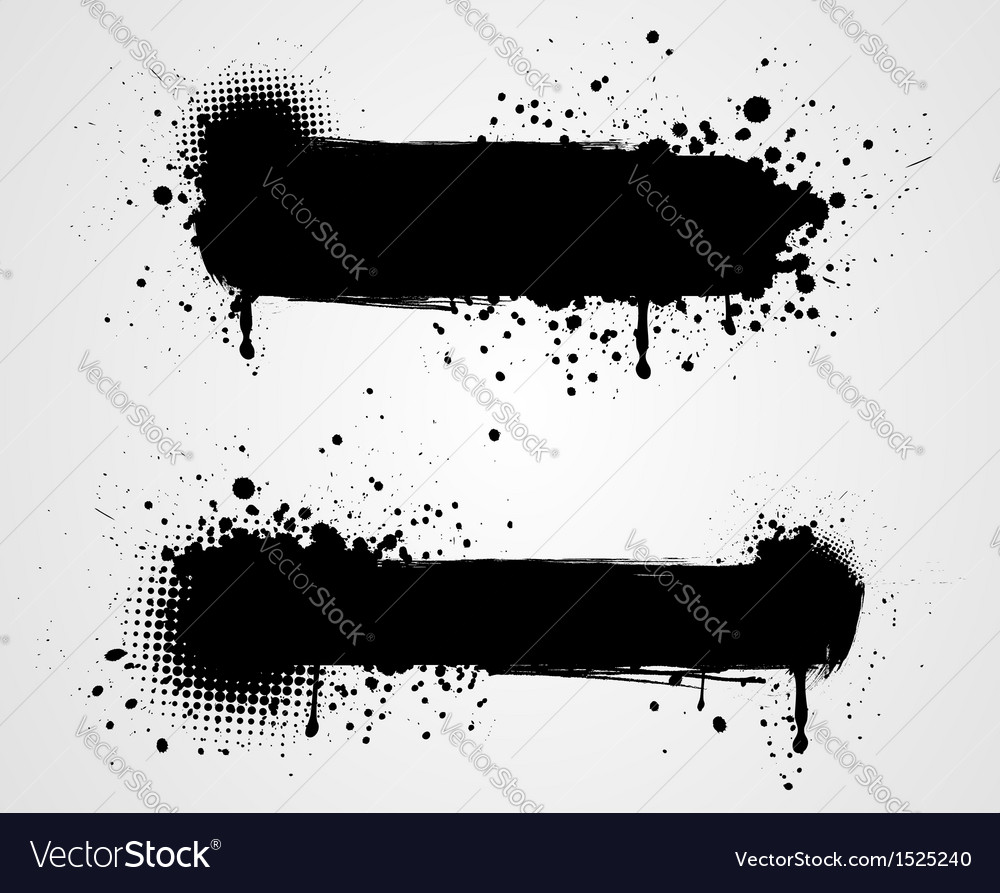 Grunge two black banners vector | Price: 1 Credit (USD $1)