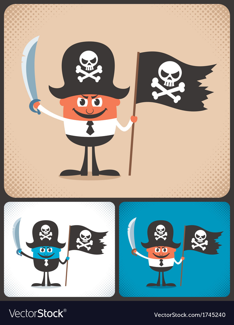 Pirate businessman vector | Price: 1 Credit (USD $1)