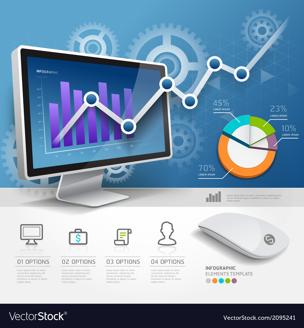 3d infographics web design template vector | Price: 1 Credit (USD $1)