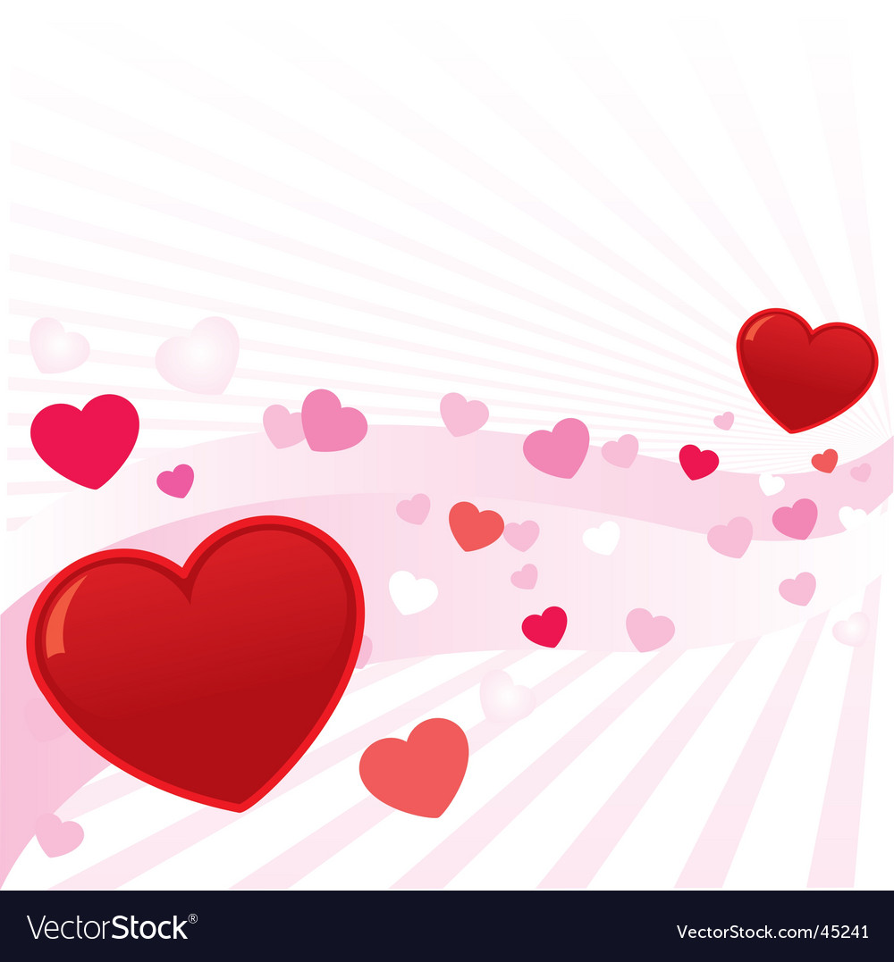 Abstract valentine hearts background i vector | Price: 1 Credit (USD $1)