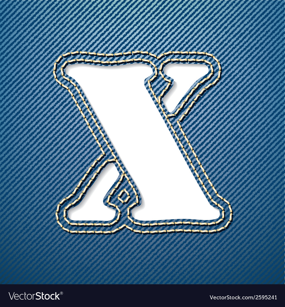 Denim jeans letter x vector | Price: 1 Credit (USD $1)