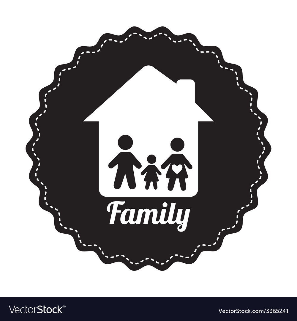 Famly home design vector | Price: 1 Credit (USD $1)