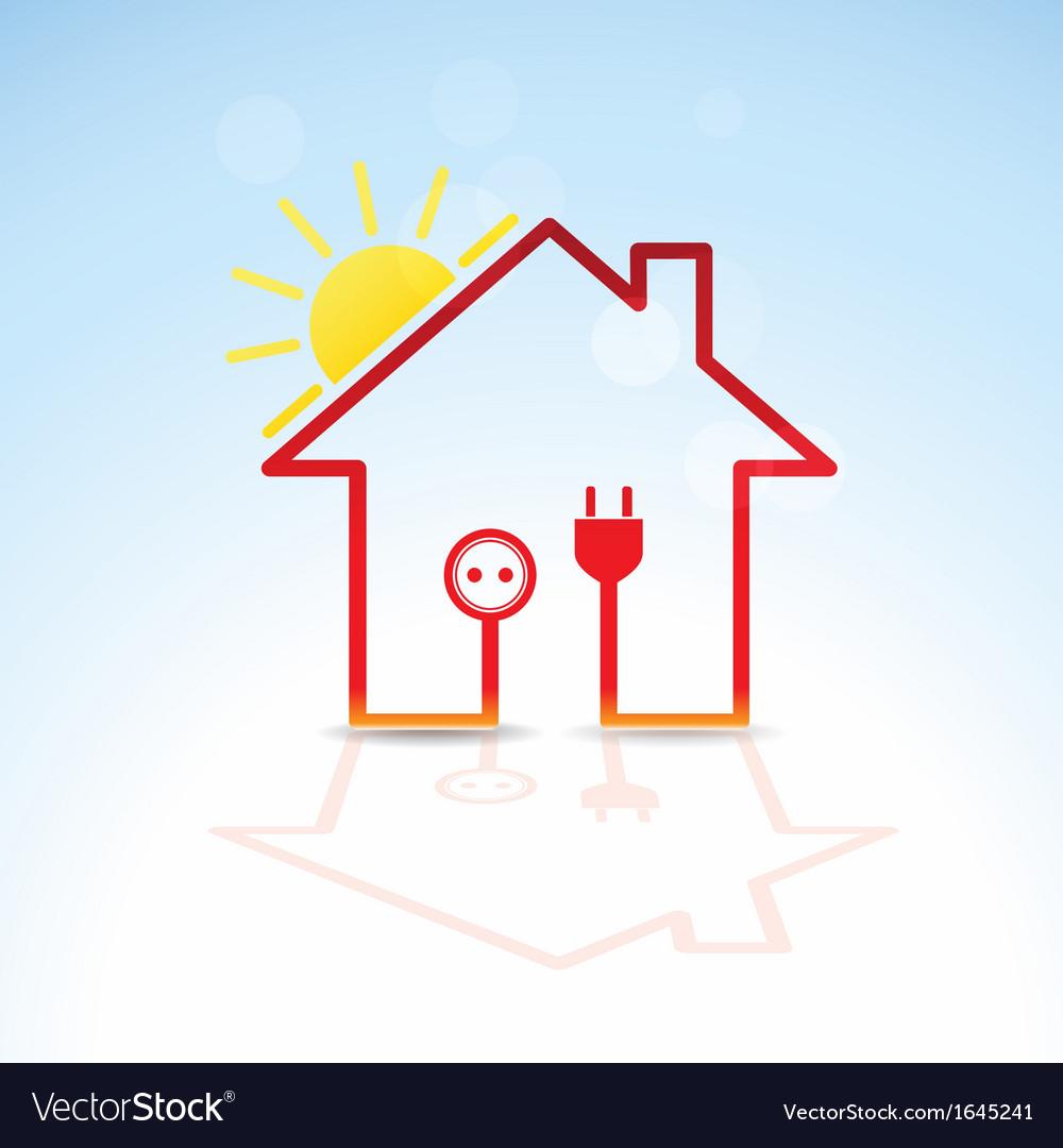 Green house solar circuit vector | Price: 1 Credit (USD $1)