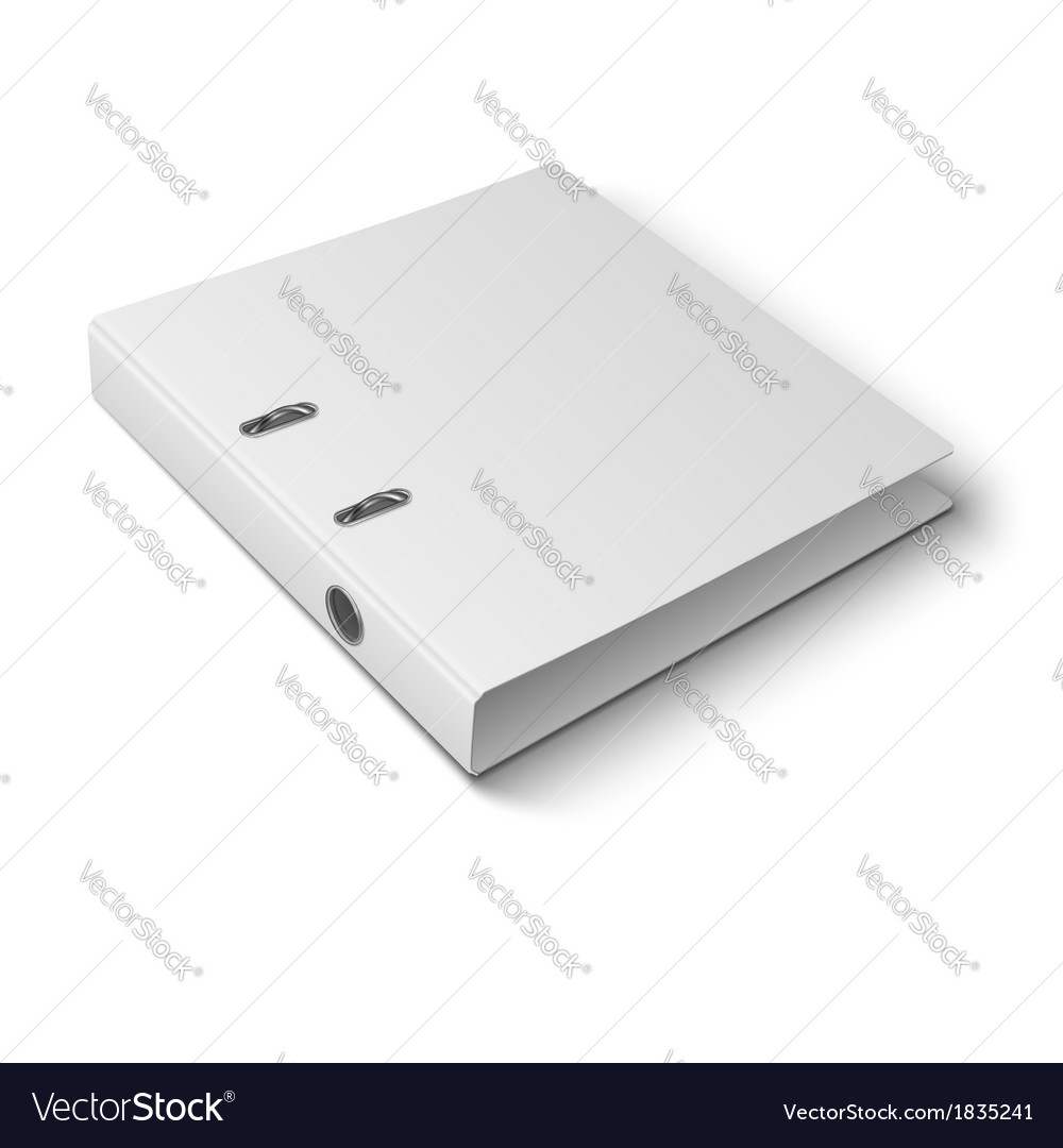 Office binder laying on white background vector | Price: 1 Credit (USD $1)