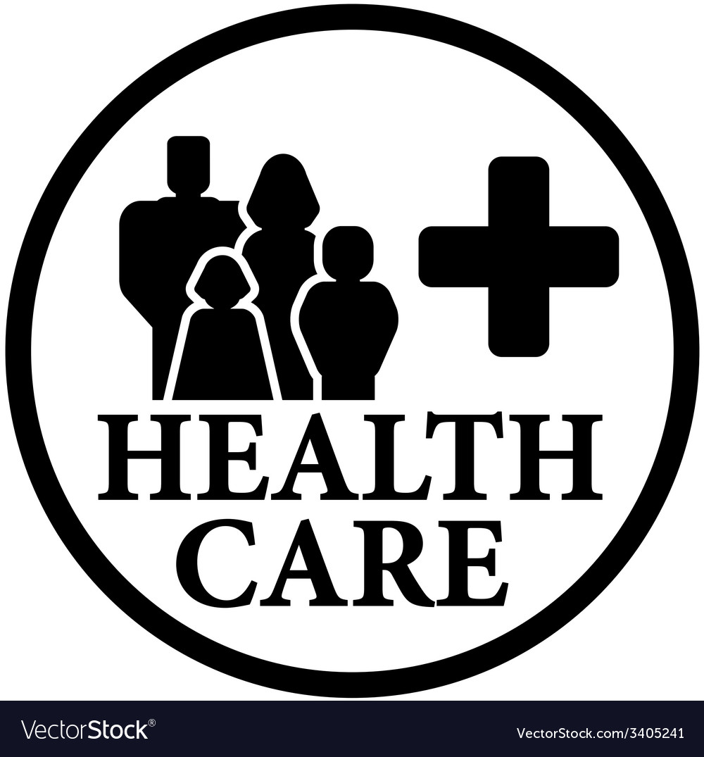 Round health care icon with family vector | Price: 1 Credit (USD $1)