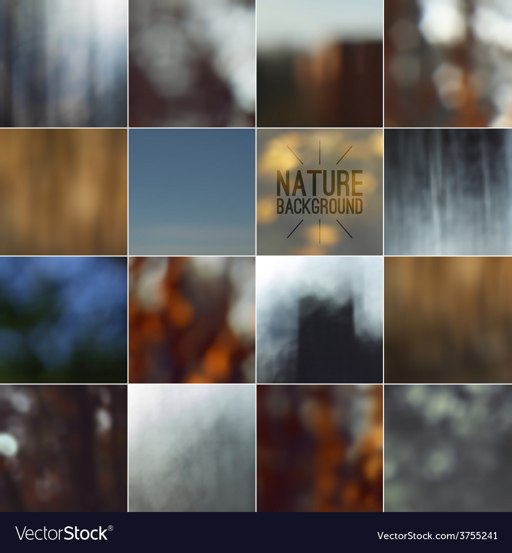 Set of bokeh nature blurred backgrounds vector | Price: 1 Credit (USD $1)