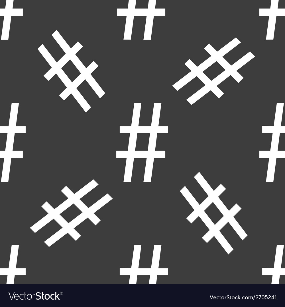 Sharp web icon flat design seamless pattern vector | Price: 1 Credit (USD $1)