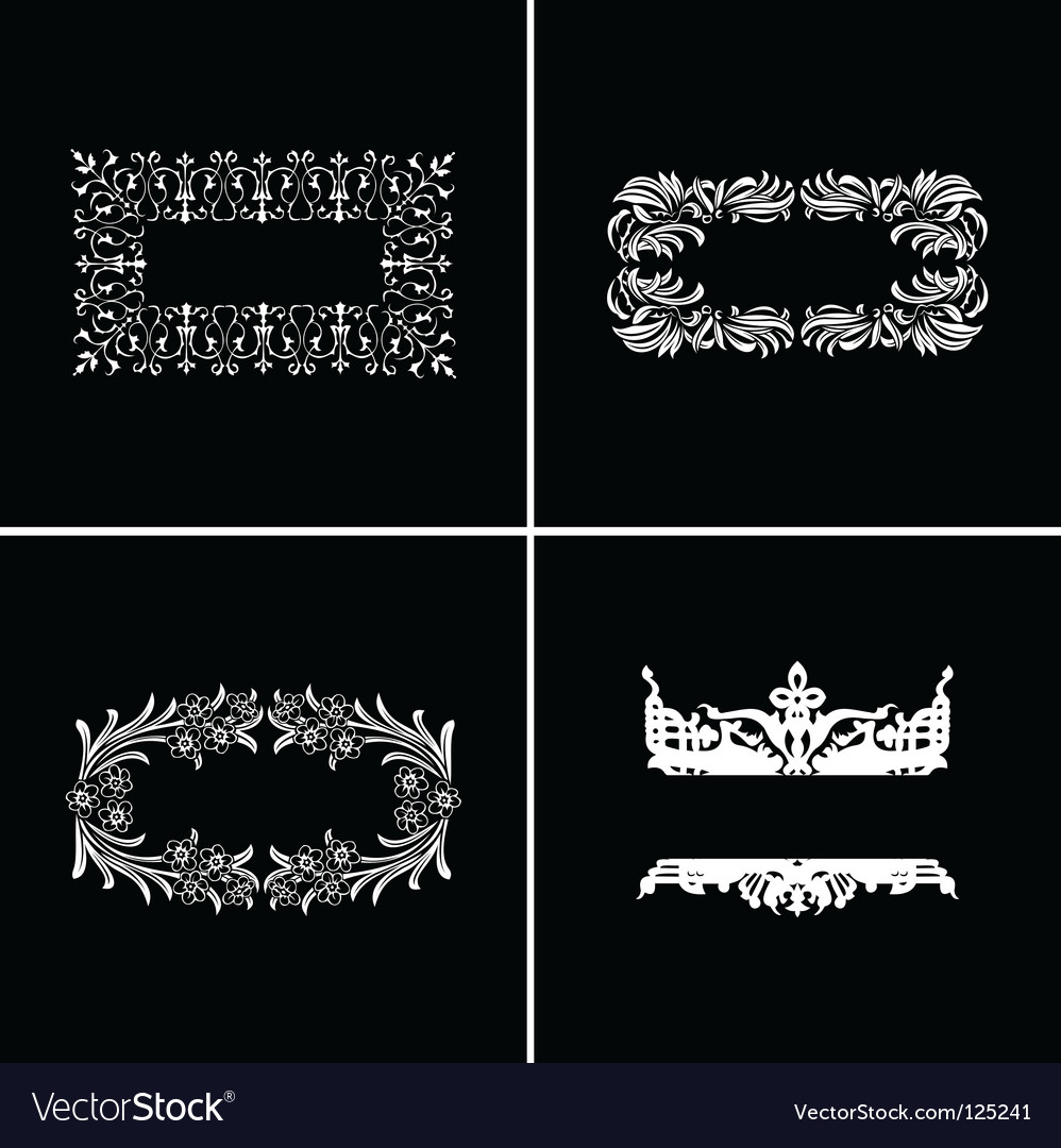 Vintage ornate banners vector | Price: 1 Credit (USD $1)