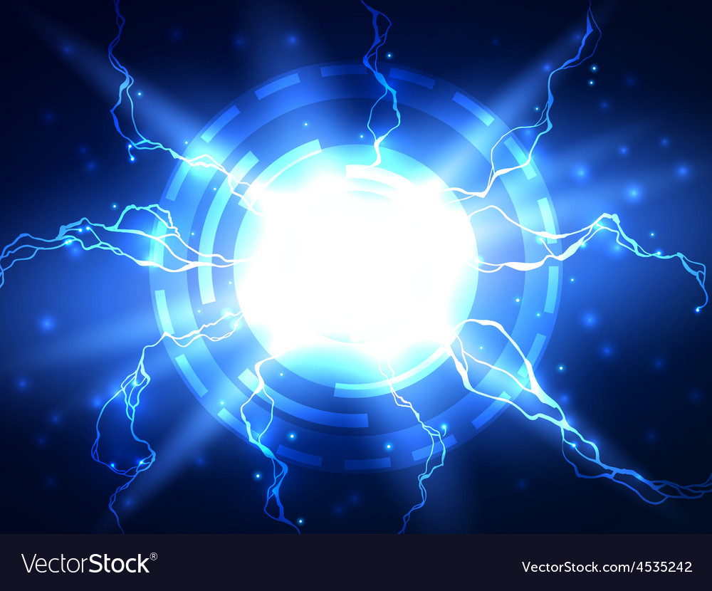 Abstract blue lightning science background vector | Price: 1 Credit (USD $1)