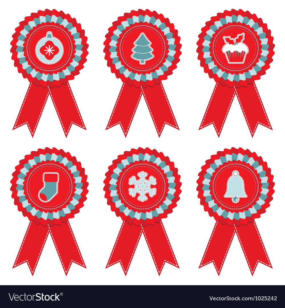 Christmas rosettes vector | Price: 1 Credit (USD $1)