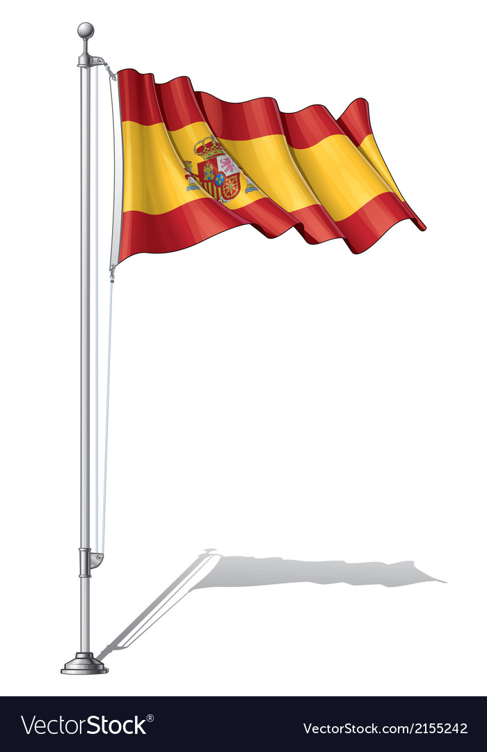 Flag pole spain vector | Price: 1 Credit (USD $1)