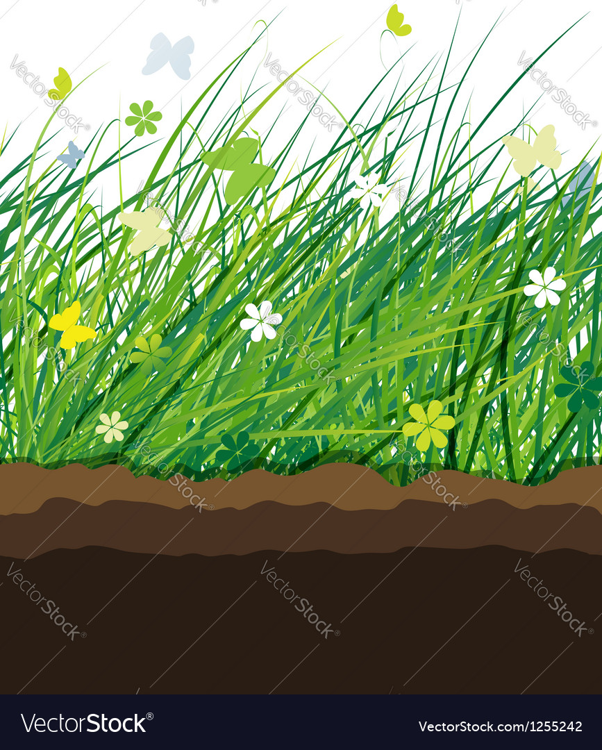 Green meadow seamless pattern for your design vector | Price: 1 Credit (USD $1)