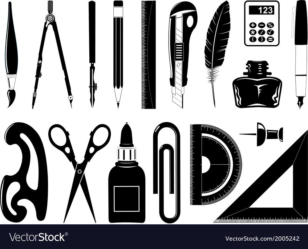 Icons of office tool vector | Price: 1 Credit (USD $1)
