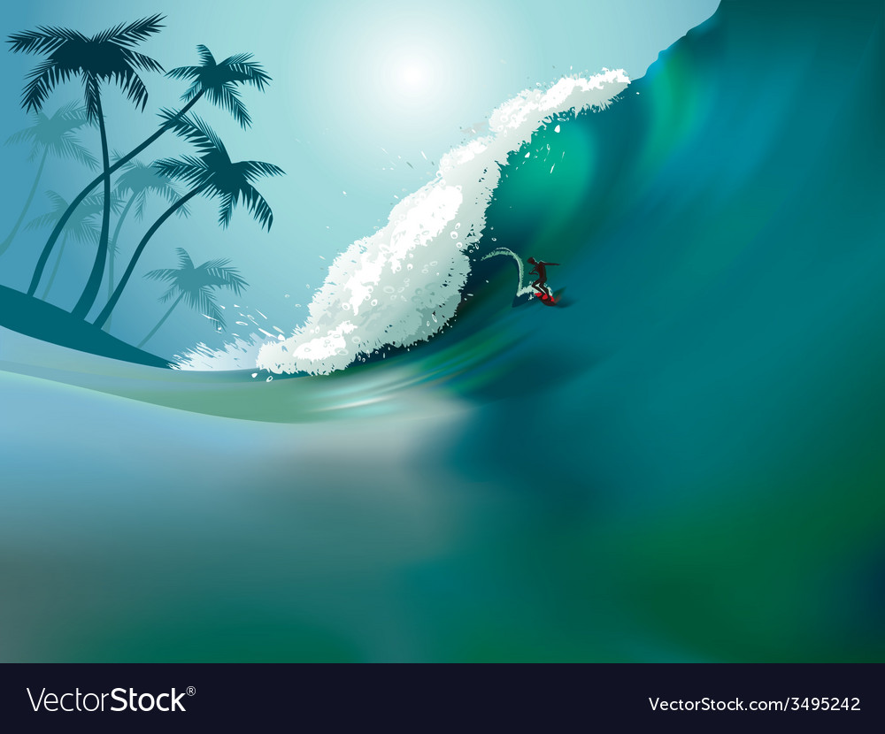 Ocean wave vector | Price: 3 Credit (USD $3)