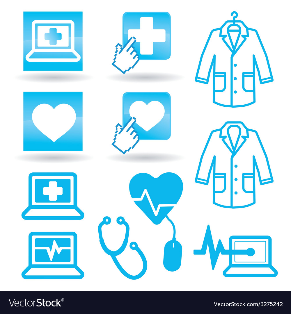 Set icons medical web vector | Price: 1 Credit (USD $1)