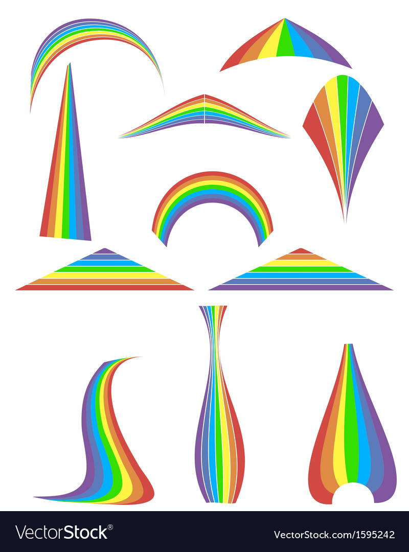 Set of 12 rainbow vector | Price: 1 Credit (USD $1)