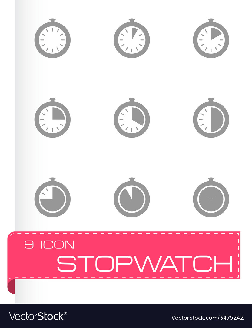 Stopwatch icon set vector | Price: 1 Credit (USD $1)