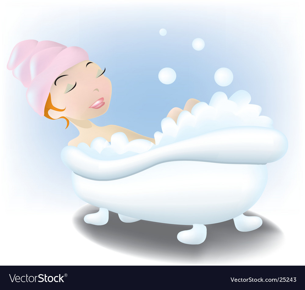 Bubble bath vector | Price: 1 Credit (USD $1)
