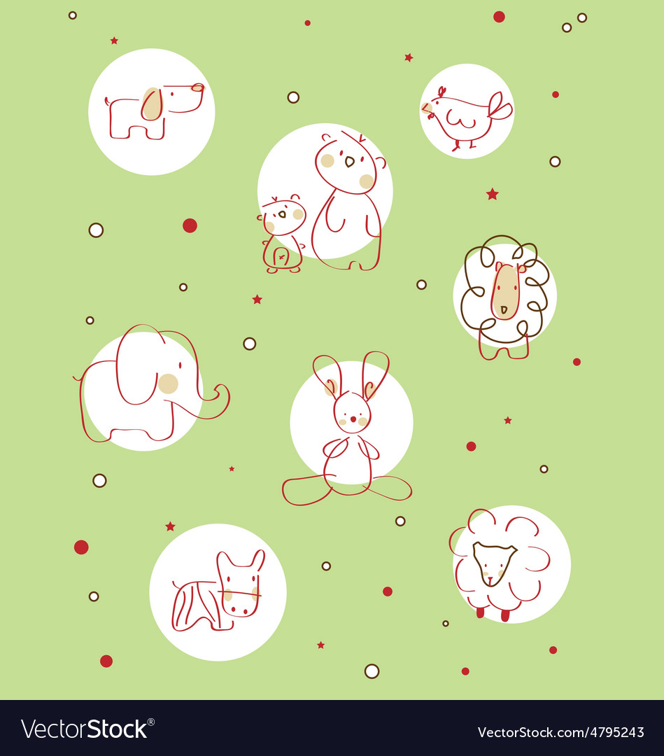 Children storybook cute vector | Price: 1 Credit (USD $1)