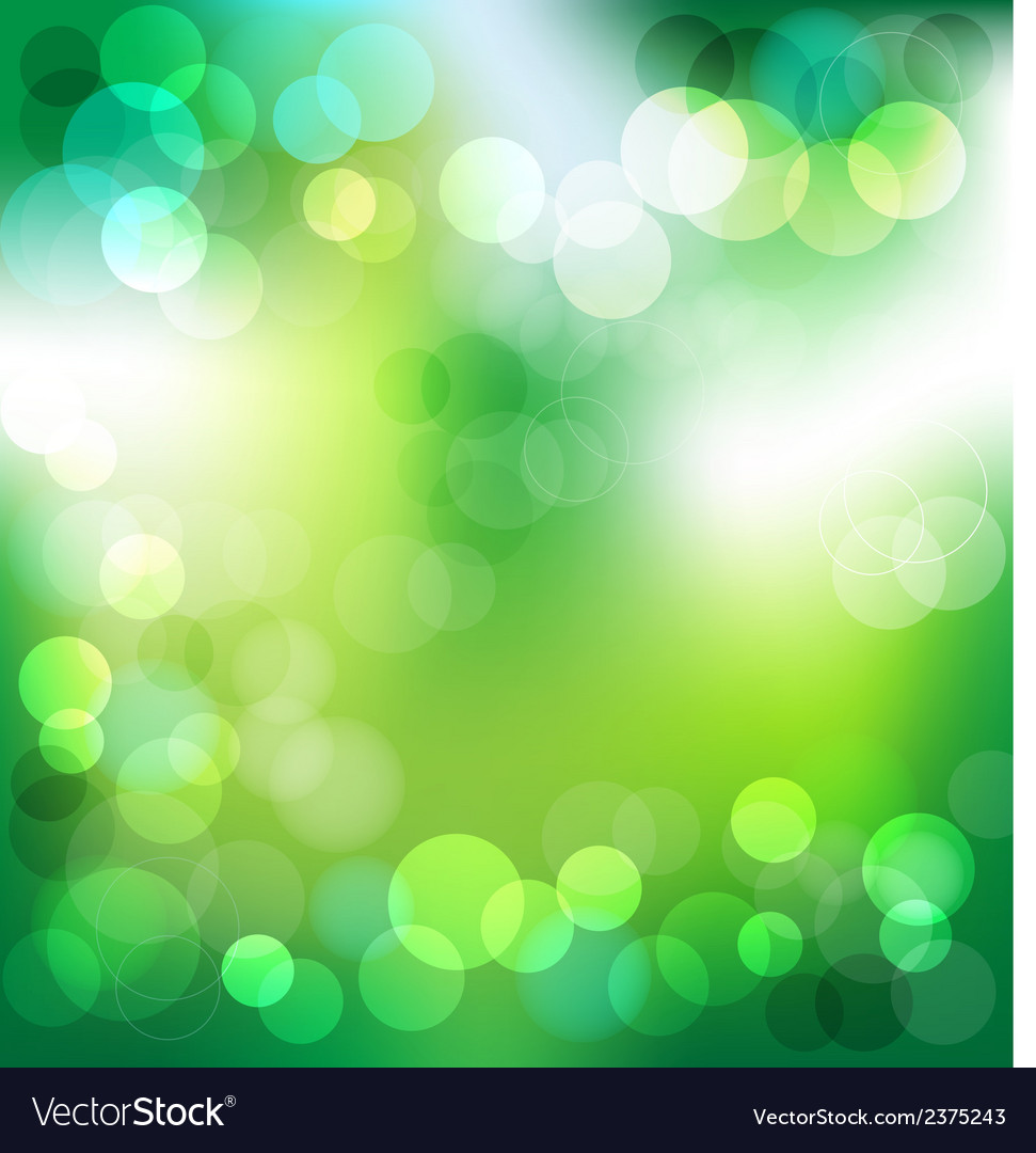 Green elegant abstract background with bokeh vector | Price: 1 Credit (USD $1)
