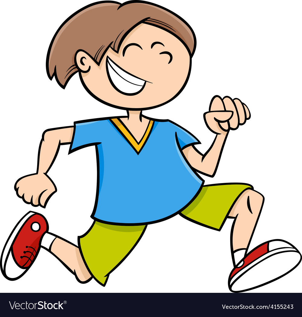 Running boy cartoon vector | Price: 1 Credit (USD $1)