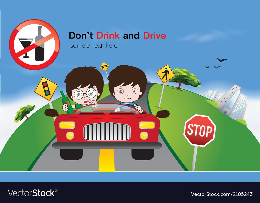 Safety driving sign vector | Price: 1 Credit (USD $1)