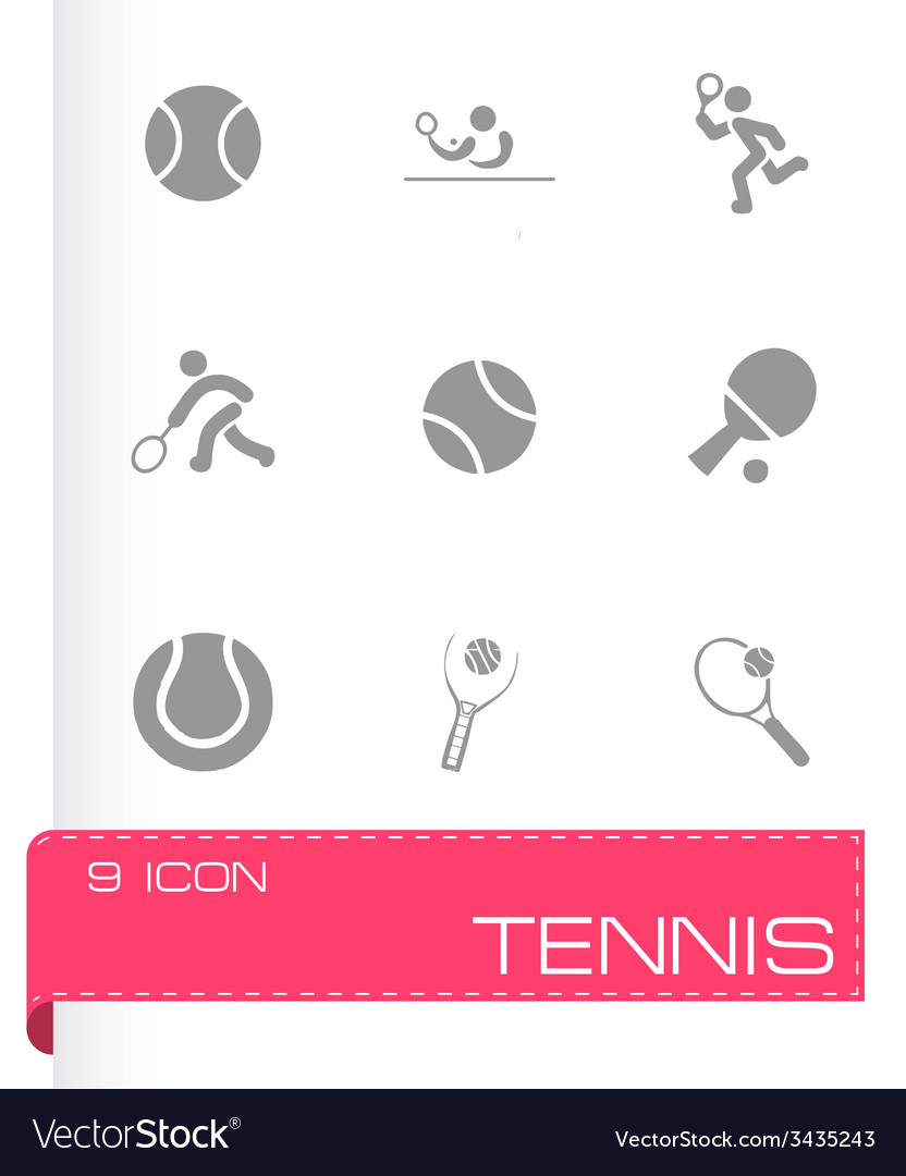 Tennis icon set vector | Price: 1 Credit (USD $1)