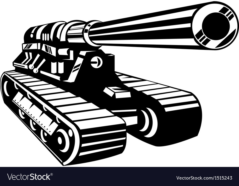 World war two battle tank vector | Price: 1 Credit (USD $1)