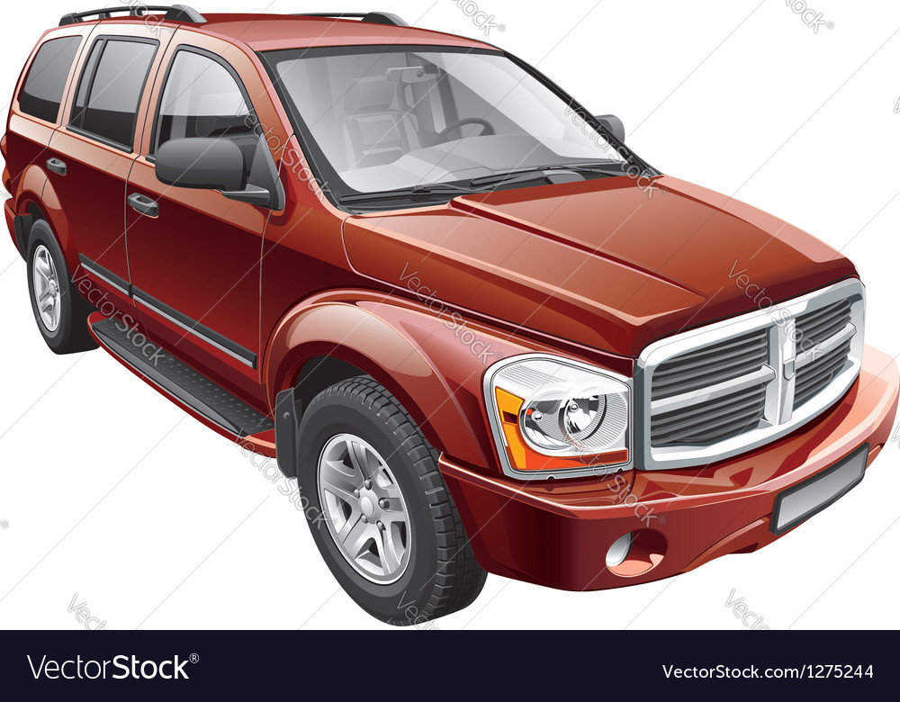 American full size suv vector | Price: 5 Credit (USD $5)
