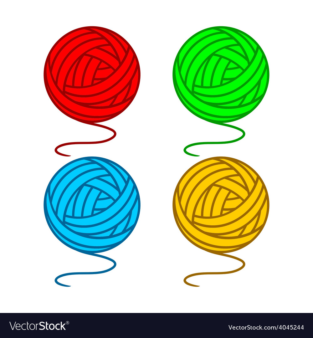 Balls of yarn vector | Price: 1 Credit (USD $1)