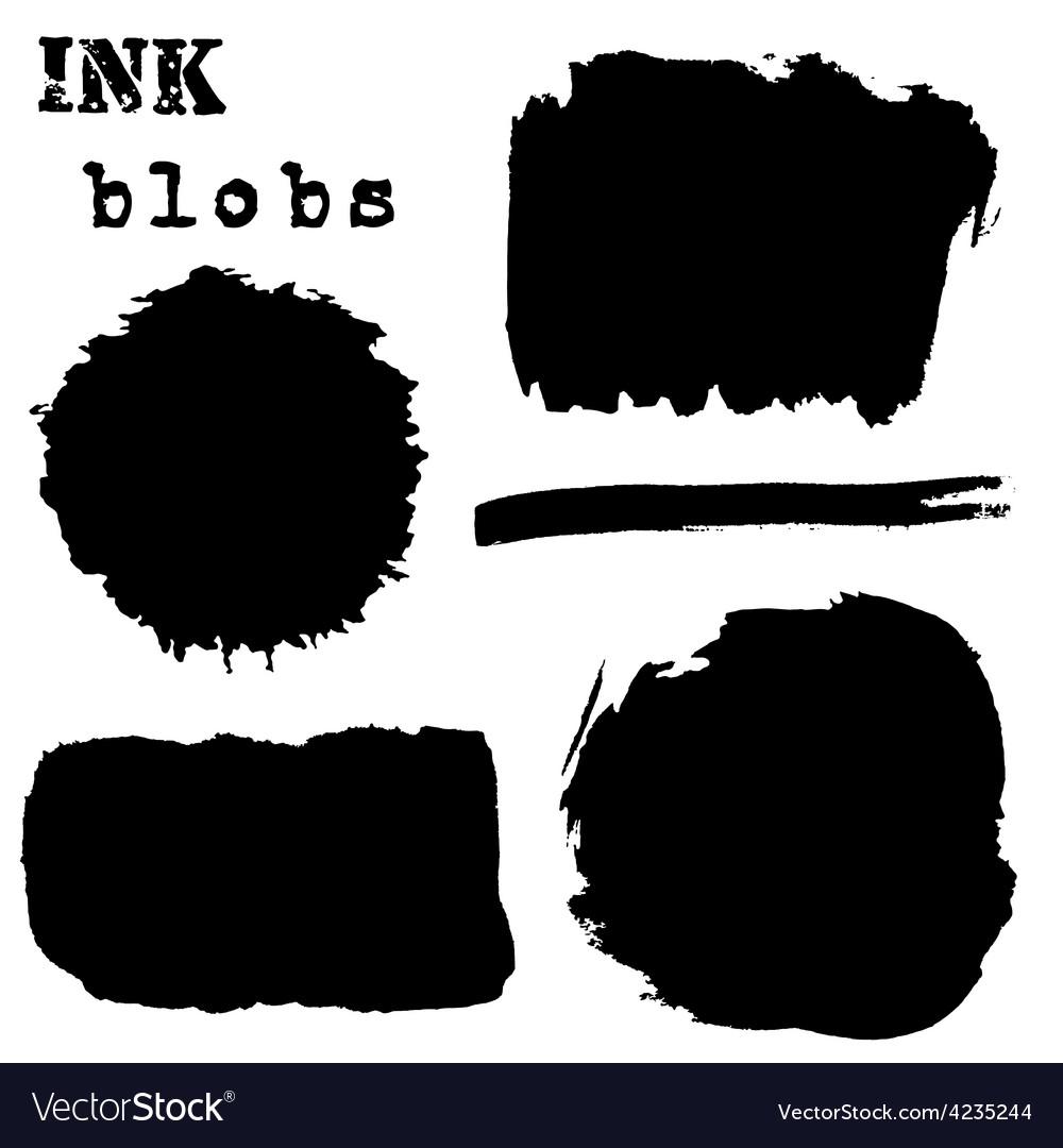 Black watercolor spots ink vector | Price: 1 Credit (USD $1)