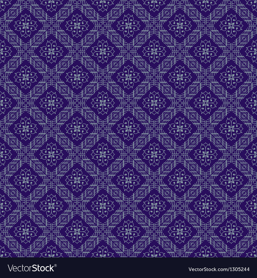 Blue colors asian damask pattern vector | Price: 1 Credit (USD $1)