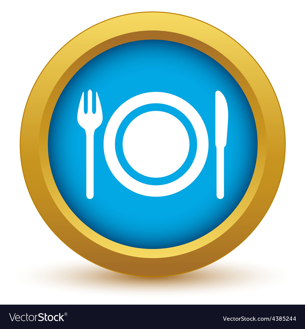 Gold dinner icon vector | Price: 1 Credit (USD $1)