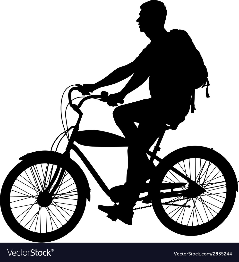 Silhouette of a cyclist male vector | Price: 1 Credit (USD $1)