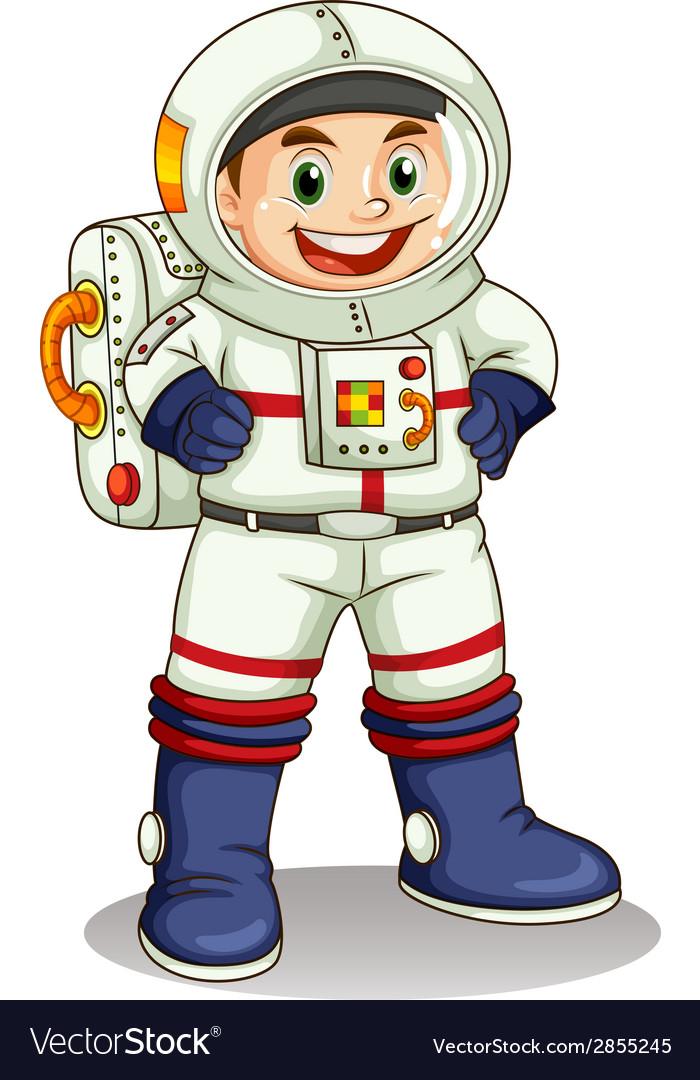 A happy astronaut vector | Price: 3 Credit (USD $3)
