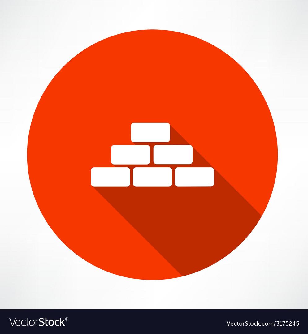 Bricks icon vector | Price: 1 Credit (USD $1)