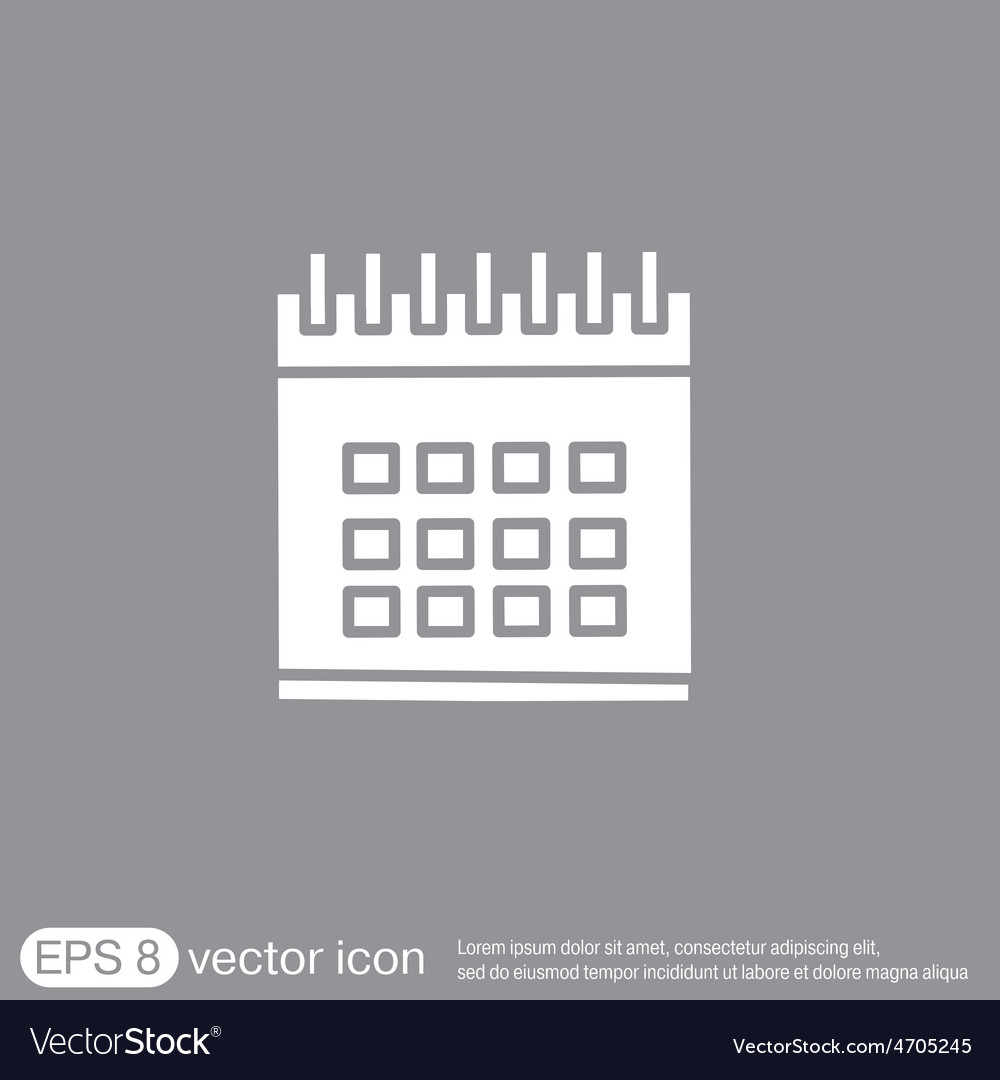 Calendar vector | Price: 1 Credit (USD $1)