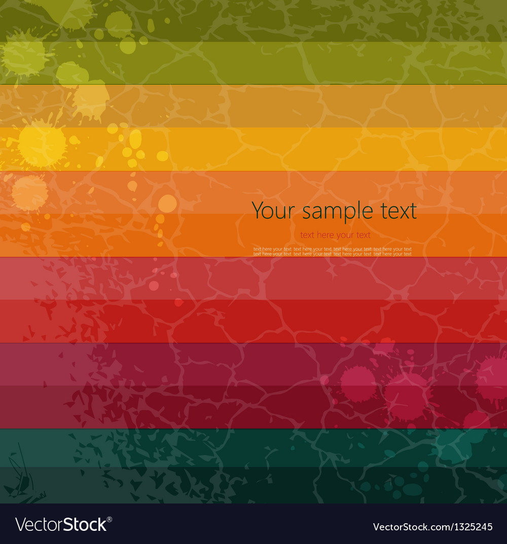 Colorful retro background on grunge paper vector