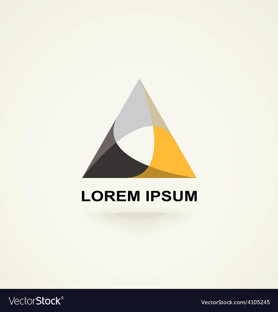 Conceptual triangle icon template logo vector   Price: 1 Credit (USD $1)