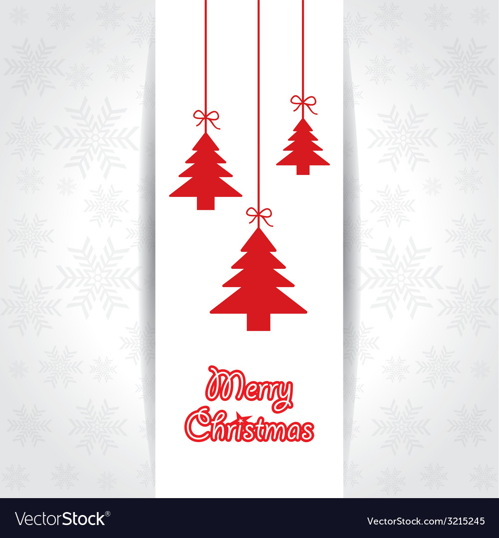 Creative greeting card for merry christmas vector | Price: 1 Credit (USD $1)