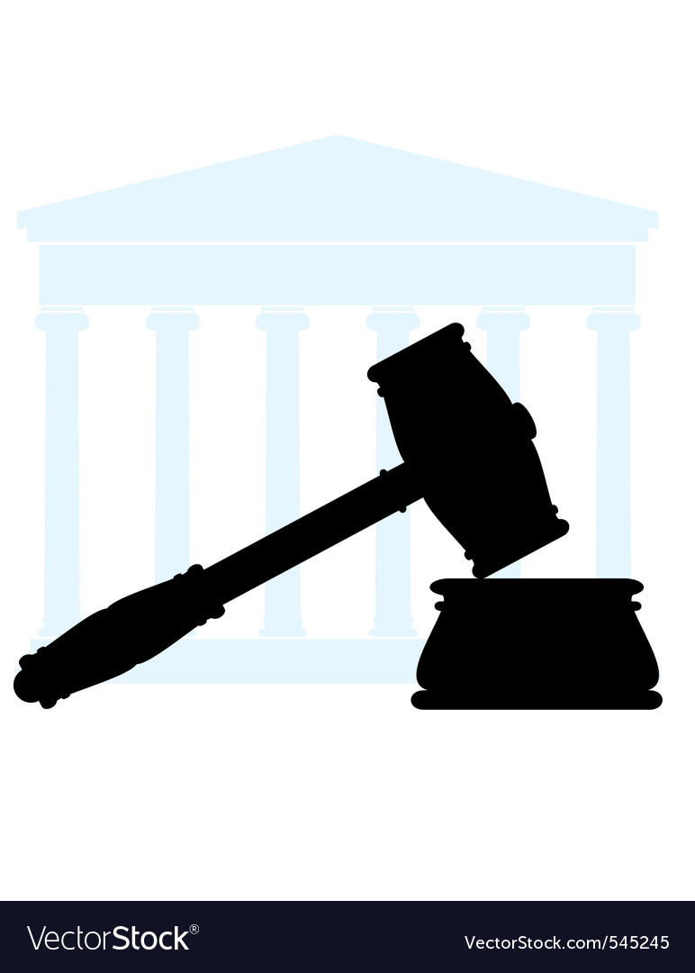 Gavel and court vector | Price: 1 Credit (USD $1)