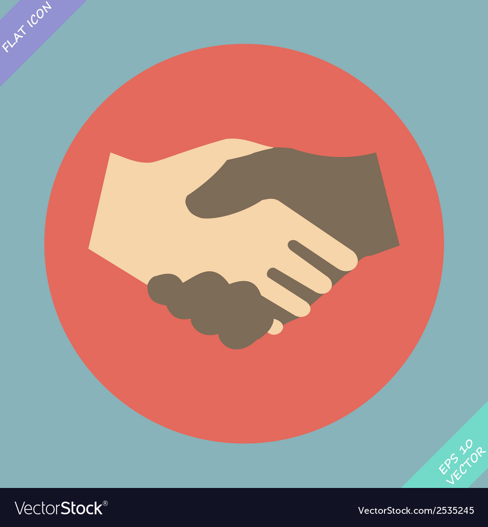 Handshake icon - vector | Price: 1 Credit (USD $1)