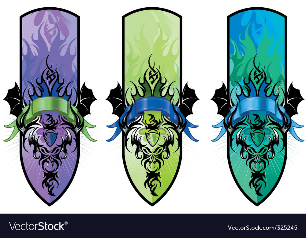 Heraldic banners vector | Price: 3 Credit (USD $3)